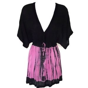 NEW Boho TieDyed Coverup Tunic Mini NWT